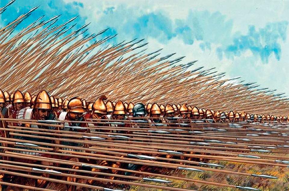 Стрій македонська фаланга у наступі