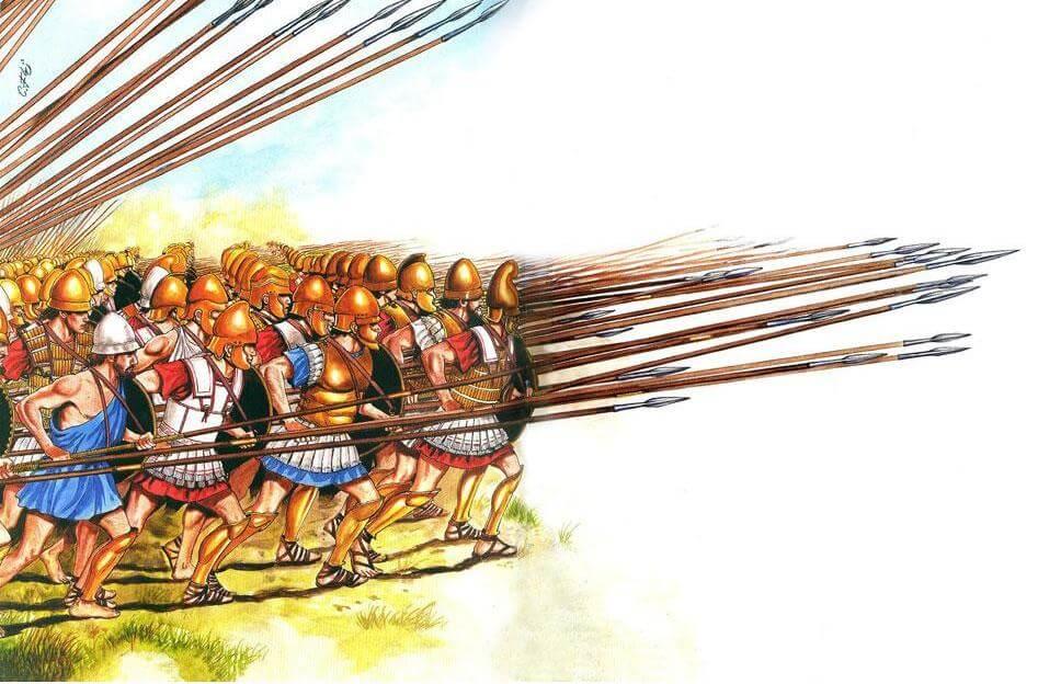 Македонська фаланга в бою