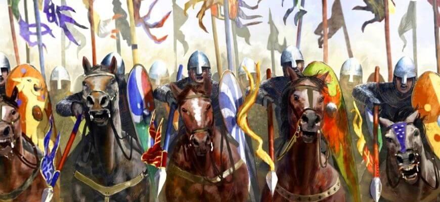 Норманнские рыцари 12 века
