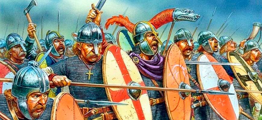 Сакские воины тэны 8 века
