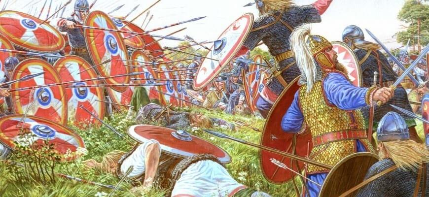Римский фулкон (стена щитов) в битве при Андрианополе