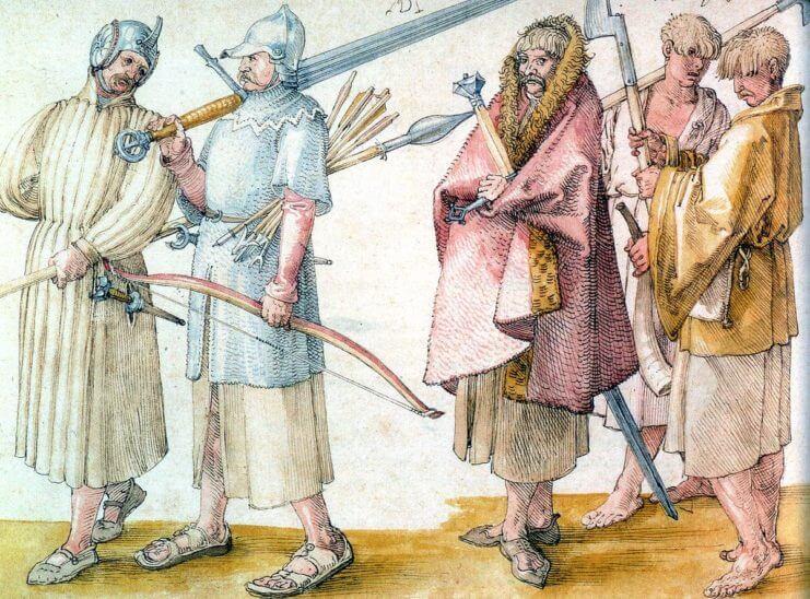 Ирландские наёмники, Рисунок Альбрехта Дюррера (1522 год),