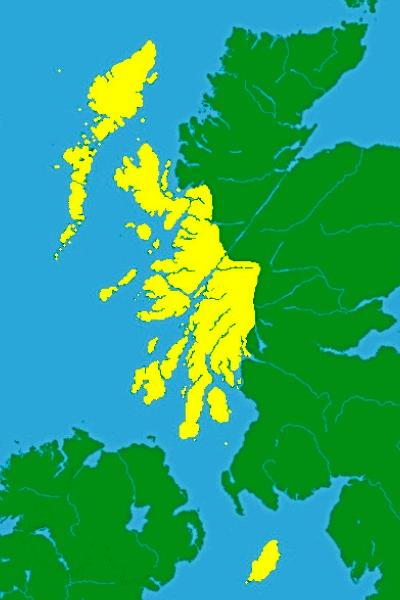 Карта королевства островов при короле Сомерленде 12 век.