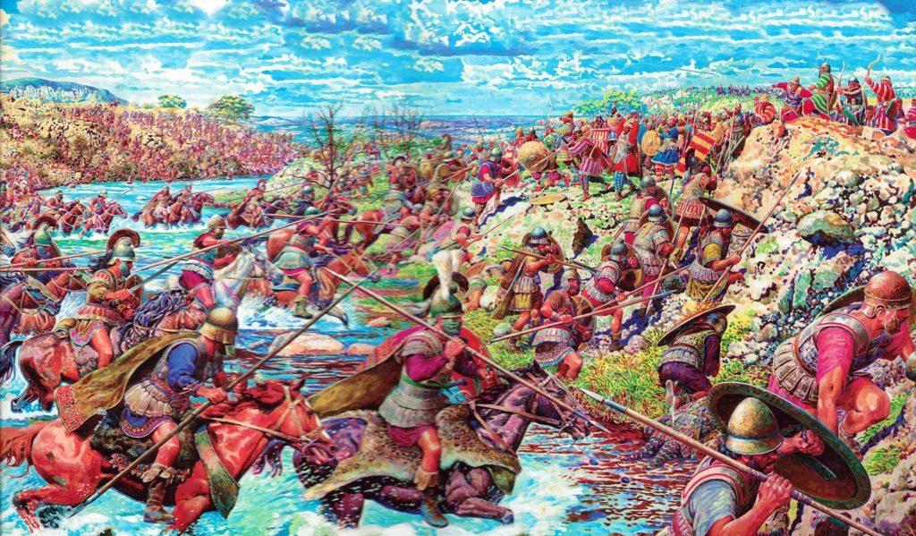 Переправа македонских фаланг через реку Граник