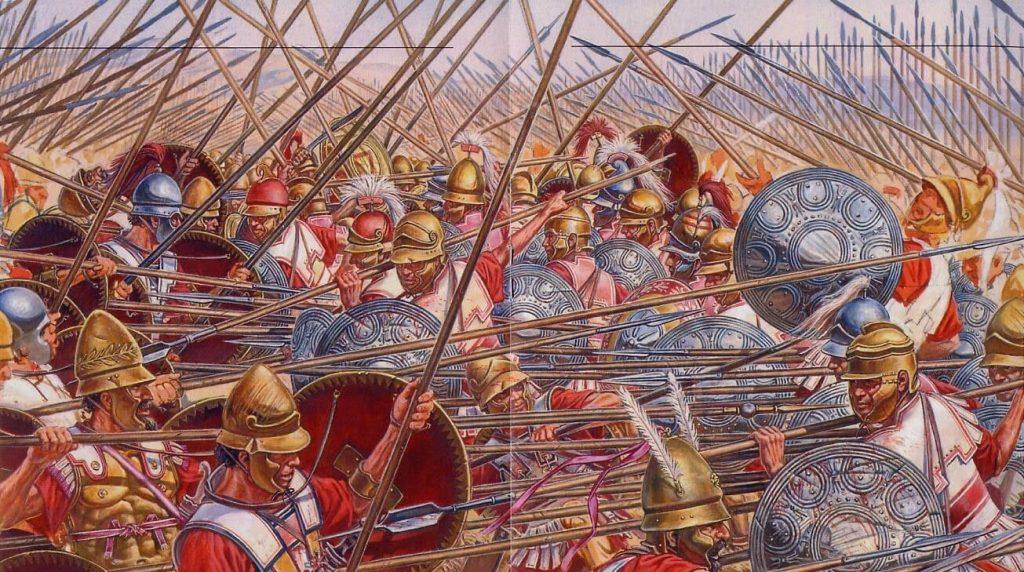 Битва педзейтарів двух македонських фаланг