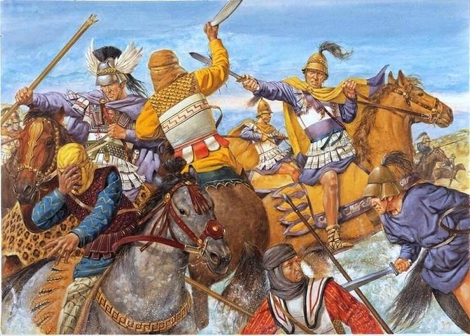 Командир царской охраны Клит Черный спасает жизнь Александру Македонскому