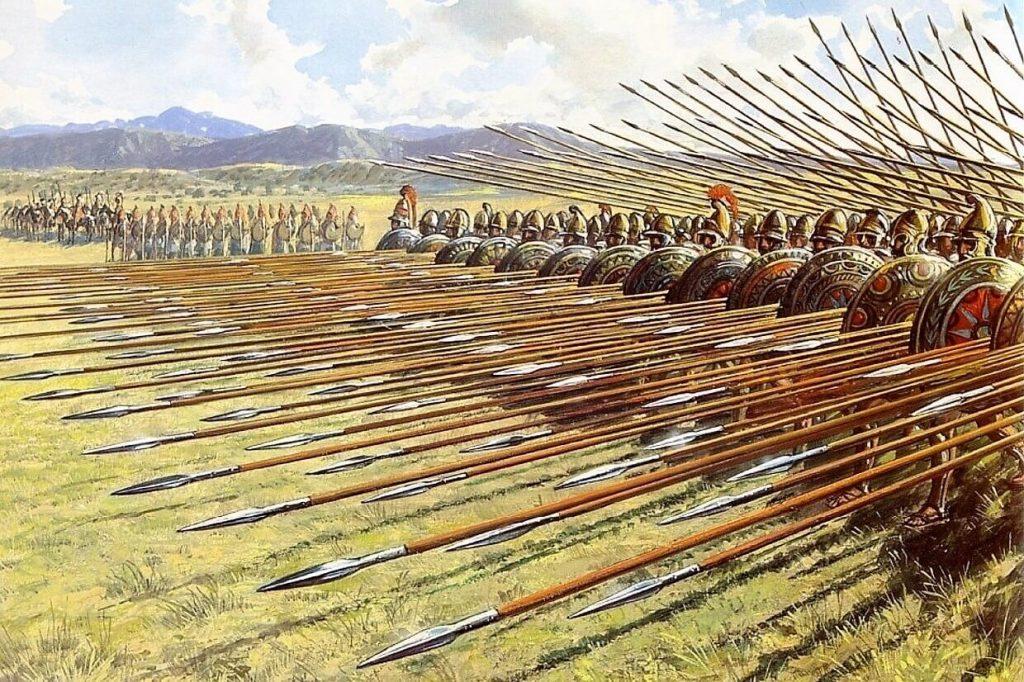 Македонська фаланга у наступі