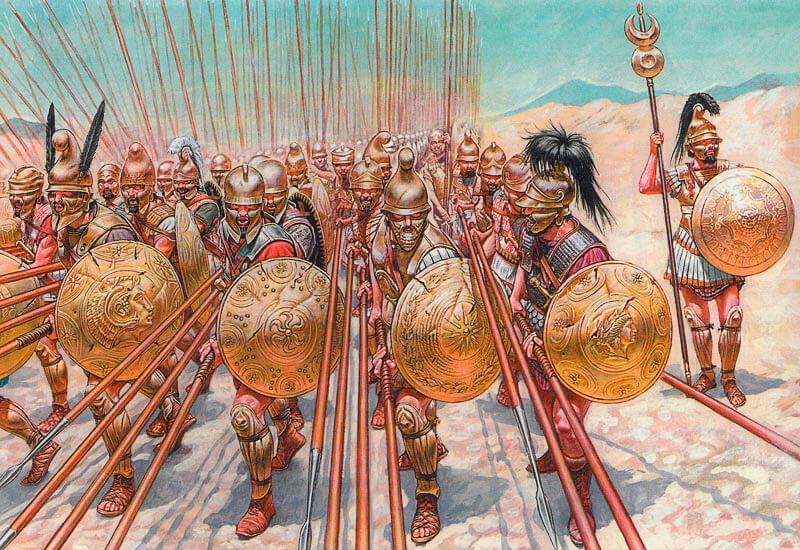 Воїни македонської фаланги