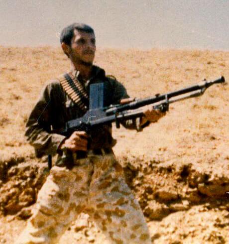Иранский жандарм с чехословацким легким пулеметом ZB vz.26